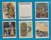 cigarette cards set Treasure Trove 1937  The Tutankhamen, Mummy Cases